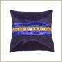 Housse de coussin synthétique bleu nuit/or Chaiya - 000110 - Copyright Akami.fr