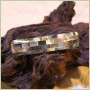 Barrette pour cheveux rectangle nacre grise - 000038 - Copyright Akami.fr