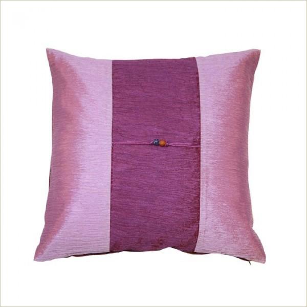 Housse de coussin en soie parme violet akami 000098 - Housse de coussin violet ...