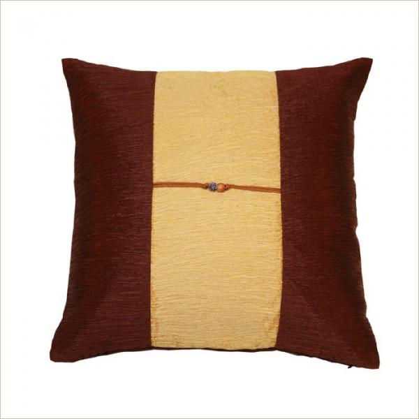 housse de coussin en soie chocolat sable akami 000099. Black Bedroom Furniture Sets. Home Design Ideas